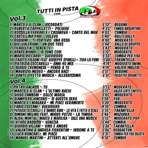 TUTTI-IN-PISTA-CON-ITALIANISSIMA-RETRO CD VOL.3-CD VOL.4